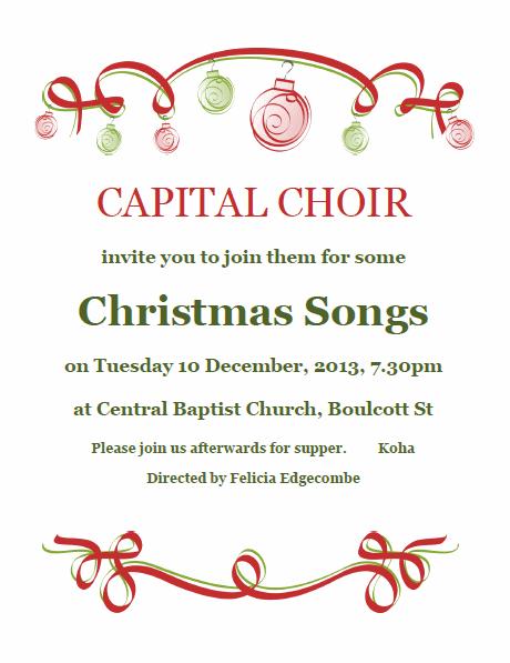 Christmas Concert 2013 Invitation